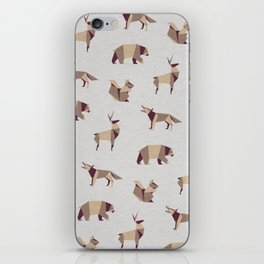 Folded Forest - Geometric Origami Animals Pattern iPhone Skin