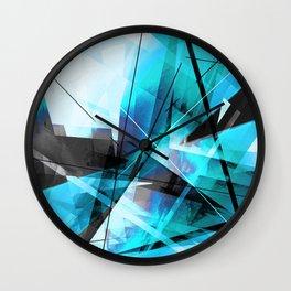 Shiver - Geometric Abstract Art Wall Clock