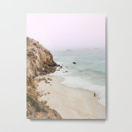 Beach Print - Point Dume, Malibu Metal Print