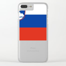 Icon of Slovenia flag Clear iPhone Case