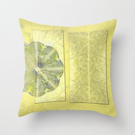 Unpinning Unprotected Flowers  ID:16165-042420-57641 Throw Pillow