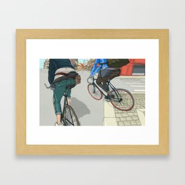 City traveller Framed Art Print