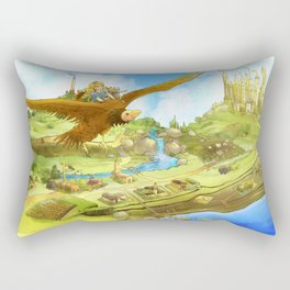 Flying On Polly Over an Enchanted Land Rectangular Pillow