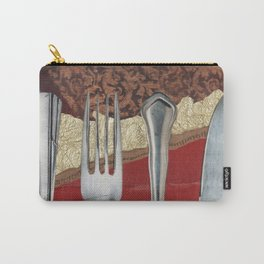 Silver & Gold Carry-All Pouch