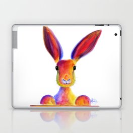 Happy Hare Rabbit ' JUST TO SAY HELLO ' by Shirley MacArthur Laptop & iPad Skin