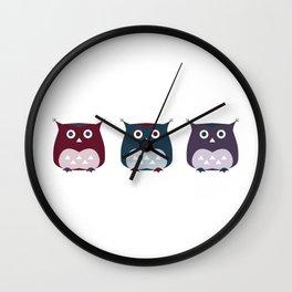 3 owls Wall Clock