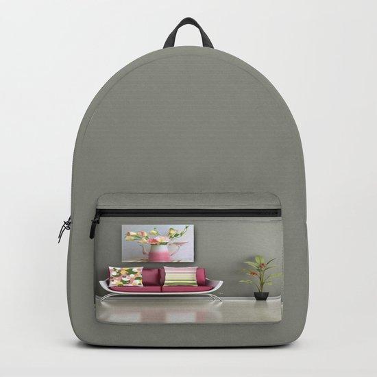 Coffee, Tea or Flowers Backpack