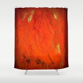 Italian Style Orange Stucco - Adobe Shadows Shower Curtain