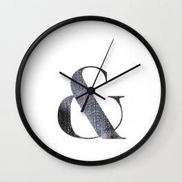 & DENIM Wall Clock