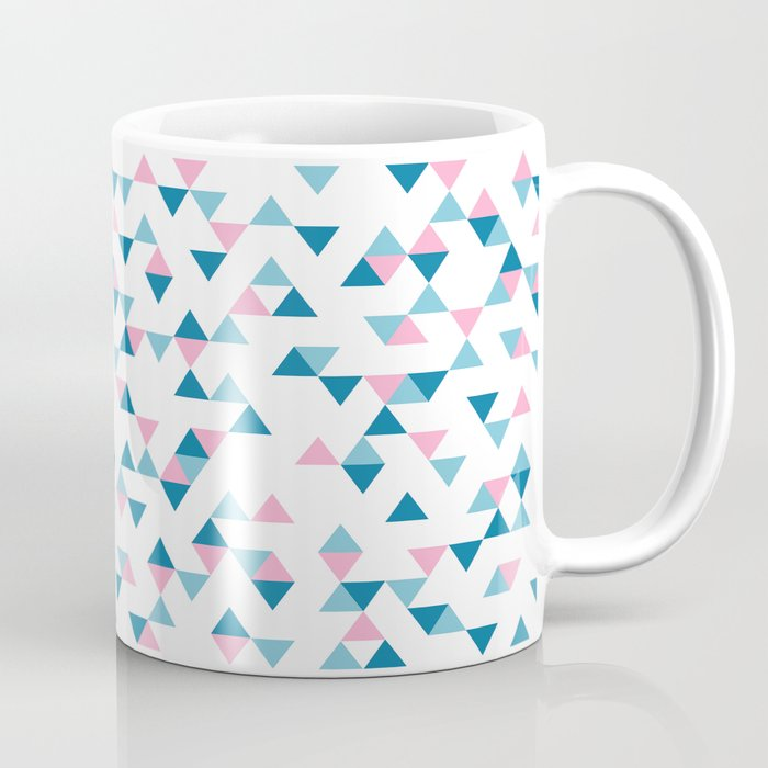 Triangles Blue and Pink Repeat Coffee Mug