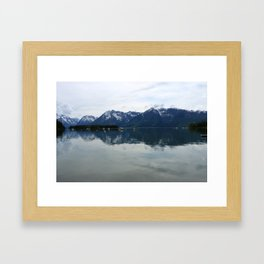Peaceful Evening At The Lake Framed Art Print