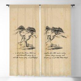 e.e. cummings - A Wind Has Blown The Rain Away Blackout Curtain
