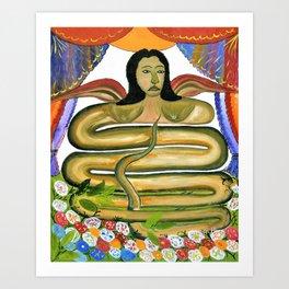 Hector Hyppolite - Damballah The Flame - Digital Remastered Edition Art Print