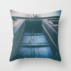 Left Alone at the Door ... Throw Pillow