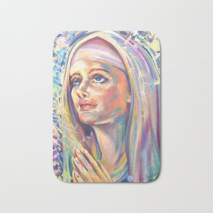 Saint Clare of Assisi, potrait Bath Mat