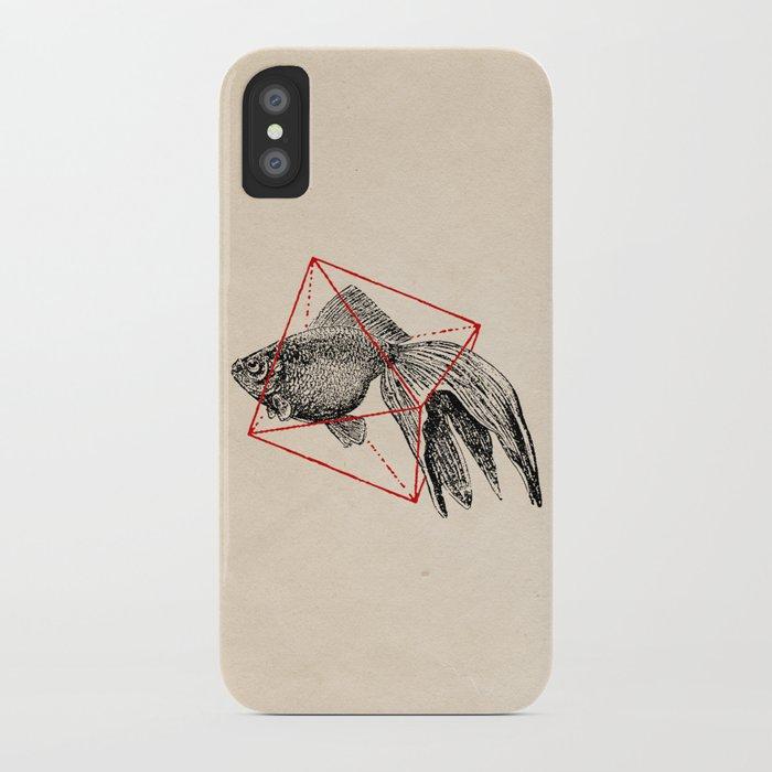 Fish In Geometrics III iPhone Case