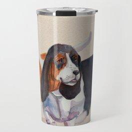 Basset hounds - Double trot Travel Mug