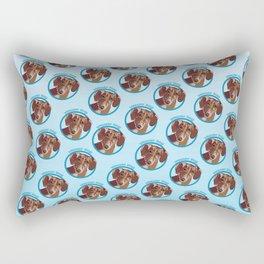 Wiener Dog Print Rectangular Pillow