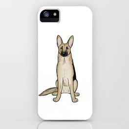 Light Tan and Black German Shepherd iPhone Case
