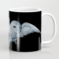 hedwig Mugs featuring Hedwig by Ashley Lick