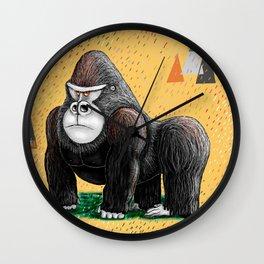 Endangered Rainforest Mountain Gorilla Wall Clock