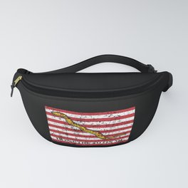 Vintage Distressed Dont Tread On Me Flag Fanny Pack