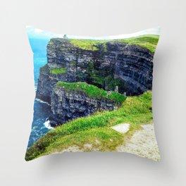 Cliffs of Moher 2 Throw Pillow