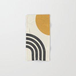 Mid century modern Sun & Rainbow Hand & Bath Towel