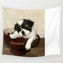 Cup of Puppy Wall Tapestry