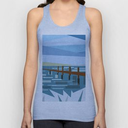 LOOKING AT THE SEA (abstract) Unisex Tank Top