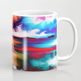 Abstract Rainbow Watercolor Beach (Color) Coffee Mug