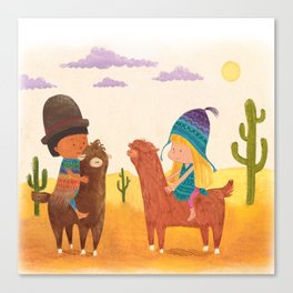 Friends in Mexico Canvas Print