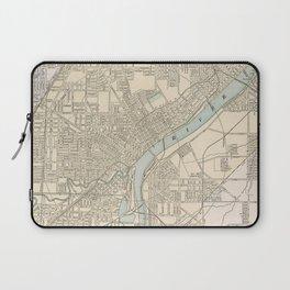 Vintage Map of Toledo Ohio (1901) Laptop Sleeve