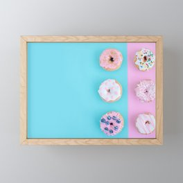 Sweet doughnuts Framed Mini Art Print