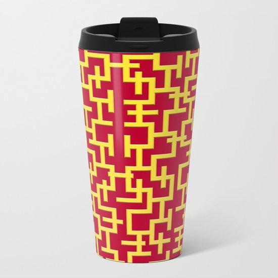 Colorful Maze II Metal Travel Mug