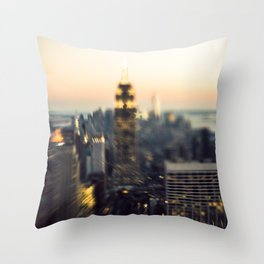 Stars in The Skyline of New York City Throw Pillow