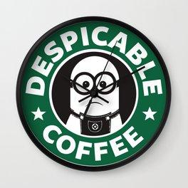 Despicable Coffee Wall Clock