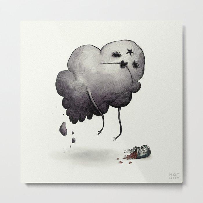 Oh Glob Metal Print