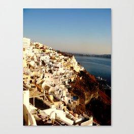 Santorini Coast Canvas Print