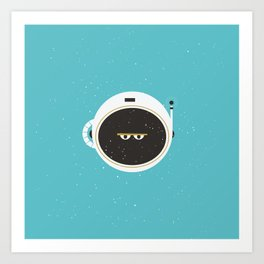 The Spaceman on Earth Art Print