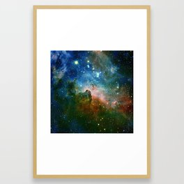 Hidden Secrets of Carina Nebula Framed Art Print