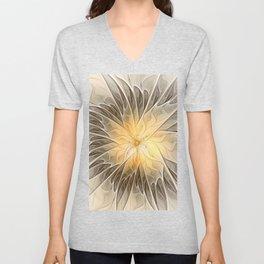 Floral Dream, Abstract Fractal Art Unisex V-Neck