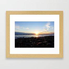 Ocean sunset - Malibu Framed Art Print