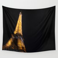 eiffel tower Wall Tapestries featuring Eiffel Tower by Emily Werboff