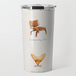 Post Modern Watercolor Chairs Travel Mug