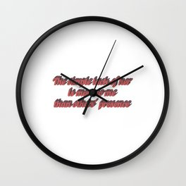 Long distance relationship I love you quotes sayings Wall Clock