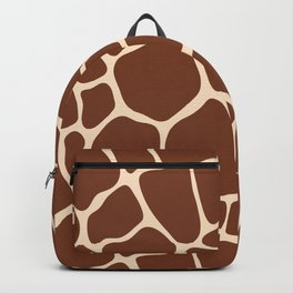 Dark Brown Giraffe Skin - Wild Animal Backpack