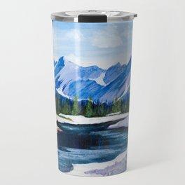 Stream Near the Rockies Travel Mug