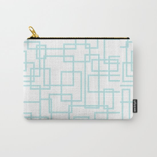 Geometric abstract pattern - light aqua Carry-All Pouch