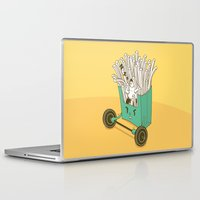 french fries Laptop & iPad Skins featuring French fries by BIGMOUTH